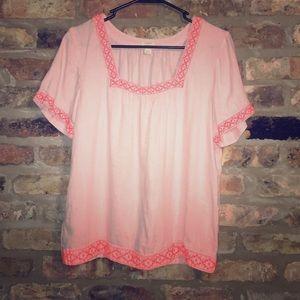 JCrew hot pink tunic top